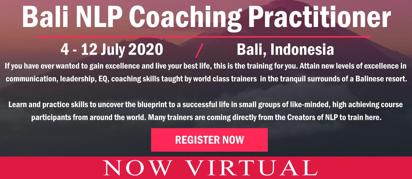 bali nlp coaching practitioner virtual